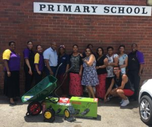 """Hollywoodbets Newton Park donated much needed goods to the Helenvale Primary School as part of the Hollywoodbets """"My Community"""" Programme for 2016/17."""