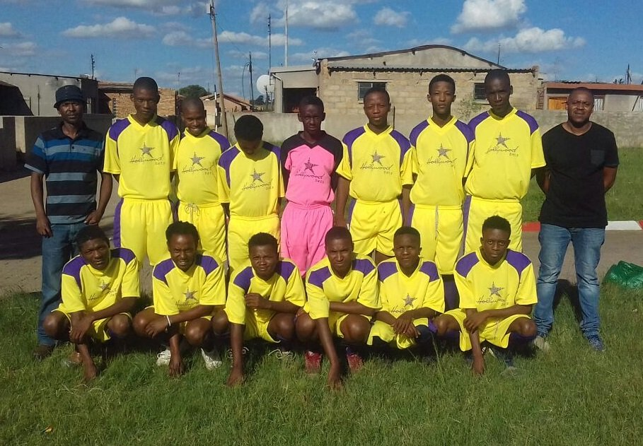 Wits FC in their new kit sponsored by Hollywoodbets Emalahleni